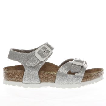 Birkenstock Silver Rio Girls Toddler