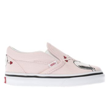 Vans Pink Slip-On Peanuts Smack Girls Toddler