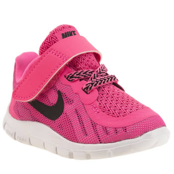 Girls Nike Pink Free 5-0 Girls Toddler