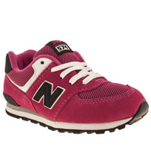 Toddler Pink & Black New Balance 574 Varsity