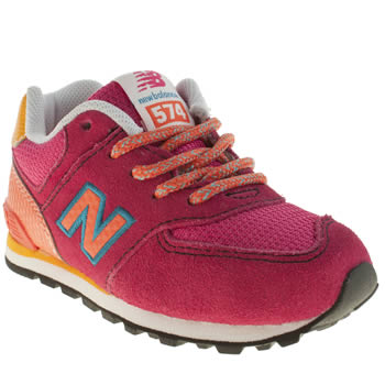 New Balance Pink 574 Carnival Girls Toddler