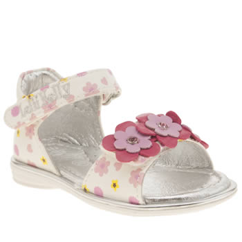 Lelli Kelly White & Pink Stacey Sandal Girls Toddler