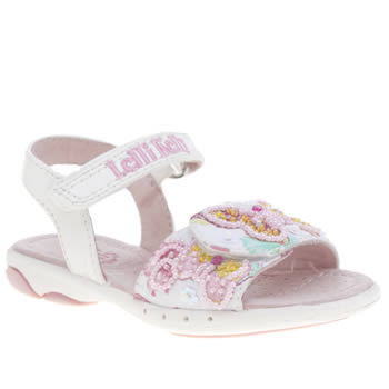 Lelli Kelly White & Pink Maisie Girls Toddler