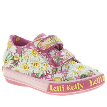 Girls Lelli Kelly Pink Daisy Velcro Girls Toddler