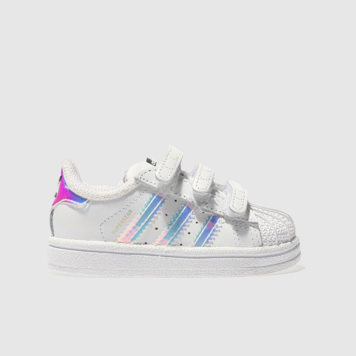 adidas white & silver superstar Girls Toddler Trainers