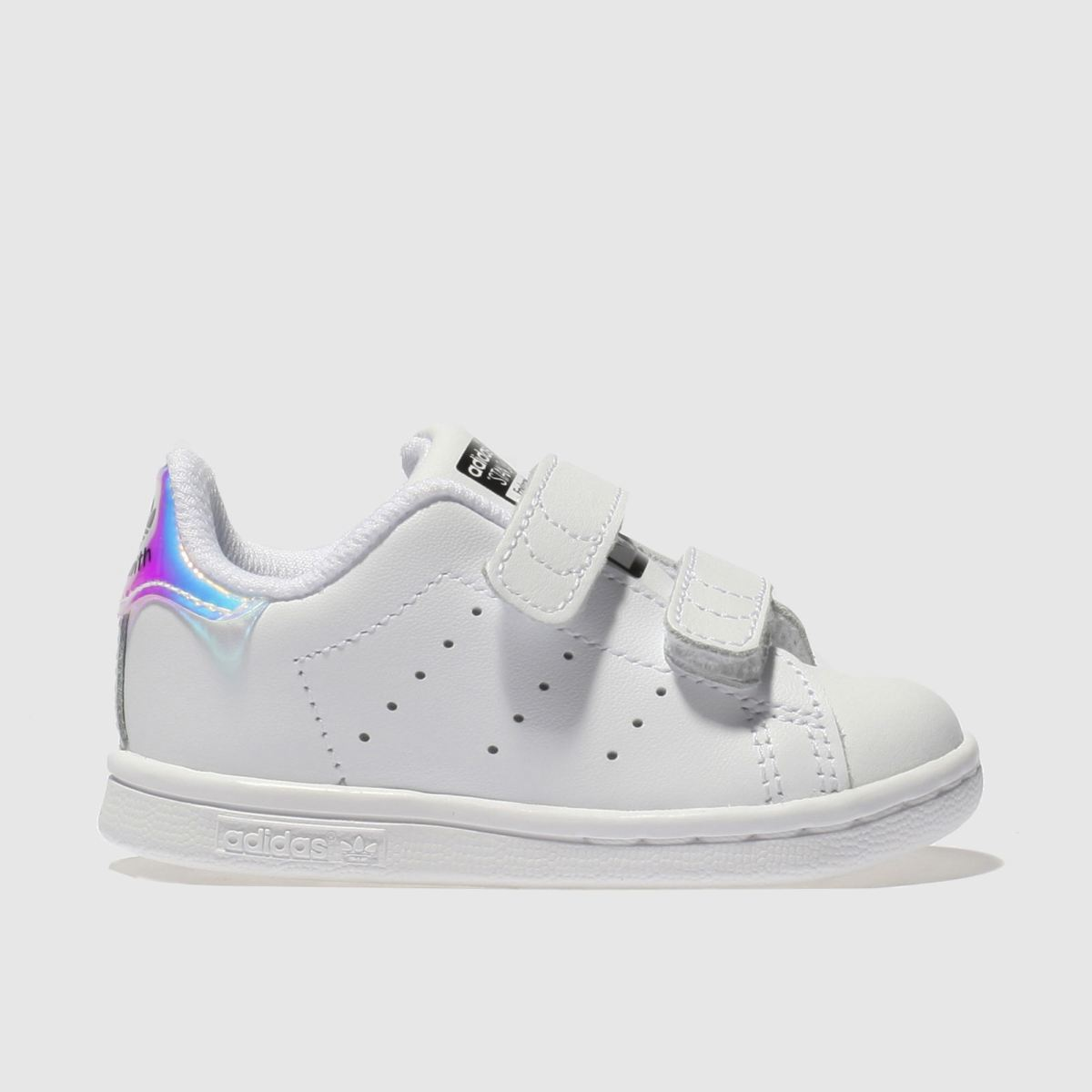 adidas white & silver stan smith Girls Toddler Trainers