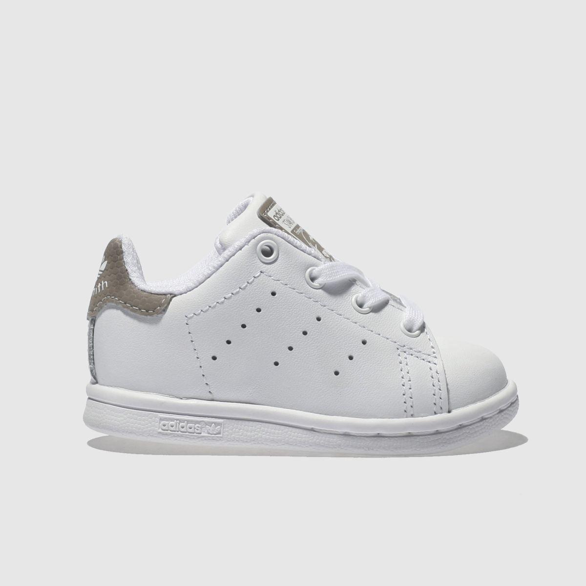 Adidas White & Grey Stan Smith Girls Toddler Toddler