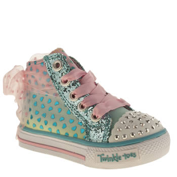 Skechers Turquoise Twinkle Toes Shuffle Girls Toddler