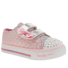 Skechers Pale Pink Shuffle Glitter Pop Girls Toddler