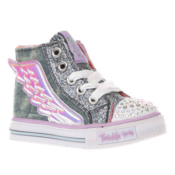 Skechers Multi Twinkle Toes Flutter Up Girls Toddler