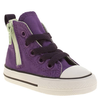 Converse Purple All Star Side Zip Hi Girls Toddler