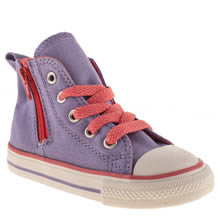 Toddler Lilac Converse All Star Side Zip Hi