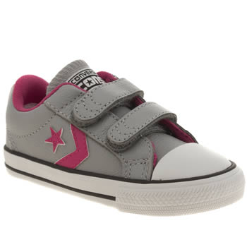 Converse Light Grey Star Player 2v Girls Toddler