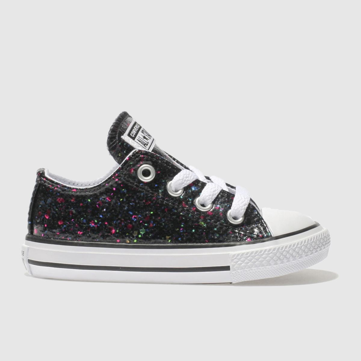 Converse Black All Star Lo Glitter Girls Toddler Toddler
