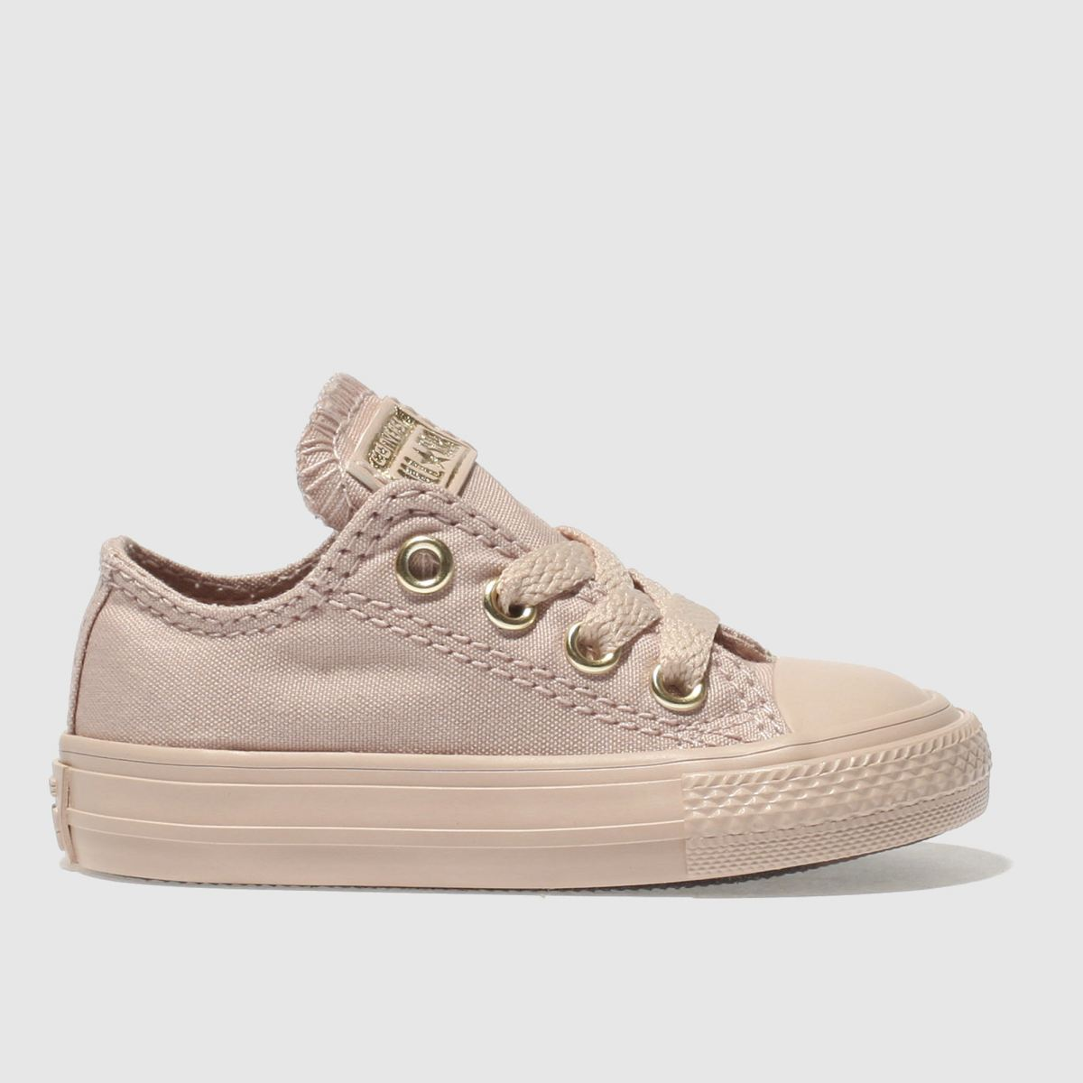 Converse Pale Pink All Star Ox Mono Glam Trainers Toddler