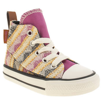 CONVERSE MULTI ALL STAR SIMPLE STEP HI GIRLS TODDLER TRAINERS