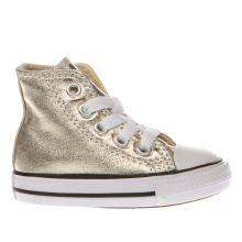 Converse Gold All Star Hi Metallic Girls Toddler