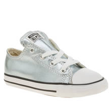 Converse Pale Blue All Star Ox Metallic Girls Toddler