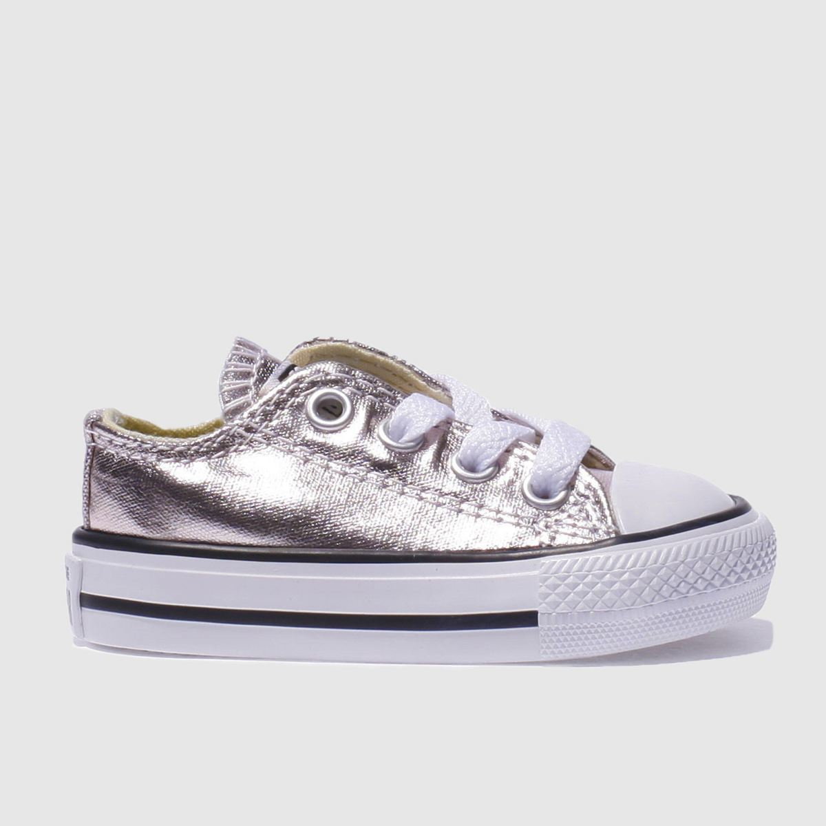 converse rose quartz all star ox metallic Girls Toddler Trainers