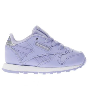 REEBOK LILAC CLASSIC LEATHER PASTEL GIRLS TODDLER TRAINERS