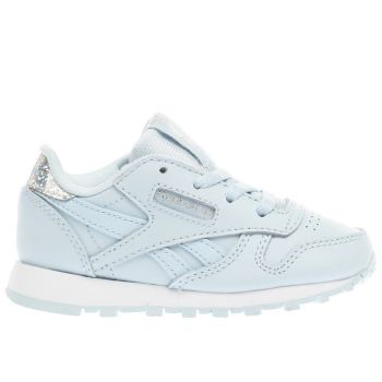 Reebok Pale Blue CLASSIC LEATHER PASTEL Girls Toddler