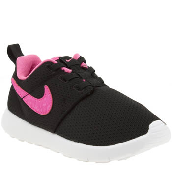 Nike Black & pink Roshe One Girls Toddler