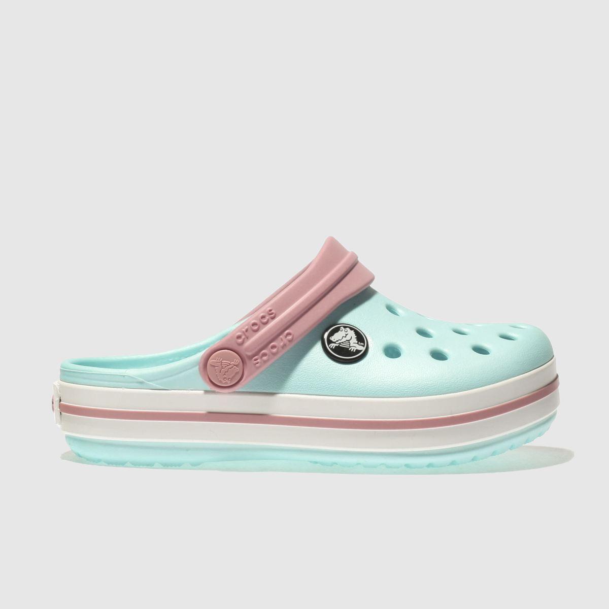 Crocs Crocs Pale Blue Crocband Clog Girls Toddler Sandals