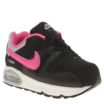 Nike Black & pink Air Max Command Girls Toddler