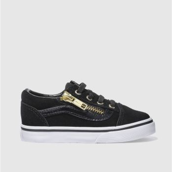 Vans Black & Gold OLD SKOOL ZIP Girls Toddler