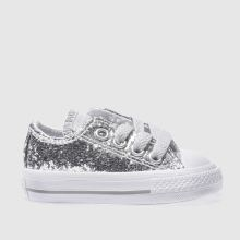 Converse Silver All Star Ox Glitter Girls Toddler