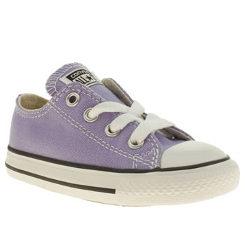kids converse lilac all star oxford trainers