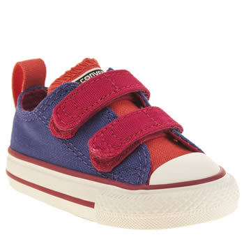 Converse Purple All Star Ox 2v Girls Toddler