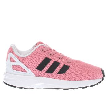Adidas Pink & Black Zx Flux Girls Toddler
