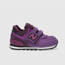 New Balance Purple 574 Girls Toddler