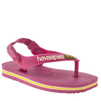 Girls Havaianas Pink Brasil Logo Girls Toddler