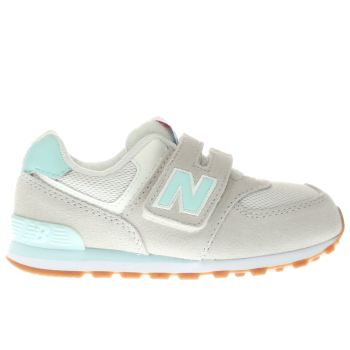 NEW BALANCE STONE 574 GIRLS TODDLER TRAINERS