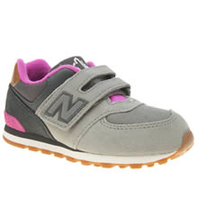 New Balance Grey 574 New England Girls Toddler