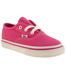 Toddler Pink Vans Authentic