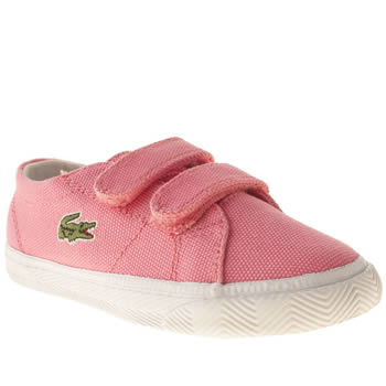 kids lacoste pink marcel trainers