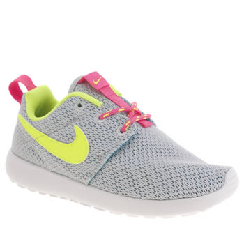 Girls Nike Light Grey Roshe Run Girls Junior