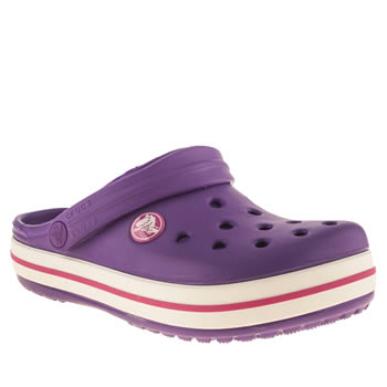 Crocs Purple Crocband Girls Junior