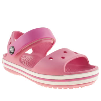 Girls Crocs Pale Pink Crocband Sandal Girls Junior