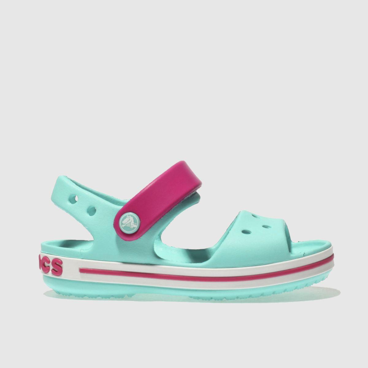 Crocs Crocs Pale Blue Crocband Sandal Girls Junior Sandals