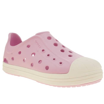 Girls Crocs Pale Pink Bump It Girls Junior