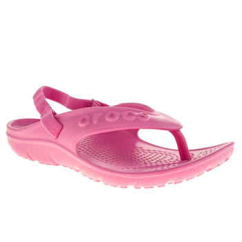 Crocs Pink Hilo Flip K Girls Junior