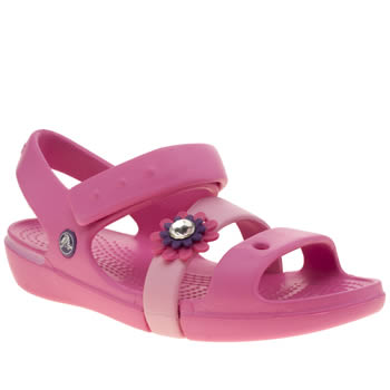 Crocs Pink Keeley Petal Charm Girls Junior