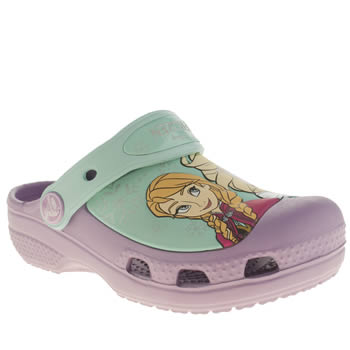Girls Crocs Lilac Frozen Clog Girls Junior