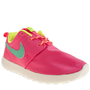 Girls Nike Pink Roshe Run Girls Junior