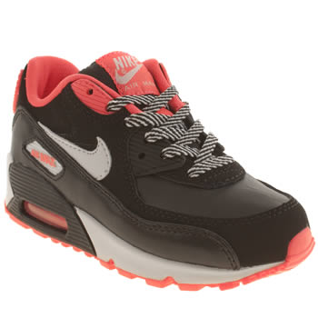 Nike Black & pink Air Max 90 2007 Girls Junior