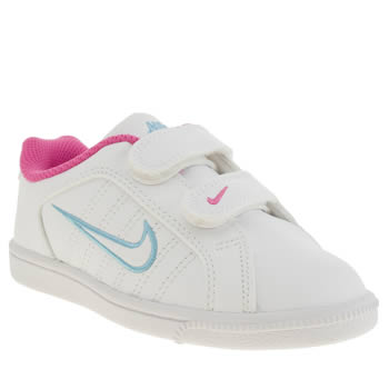 Girls Nike White & Pink Court Tradition 2 Plus Girls Junior